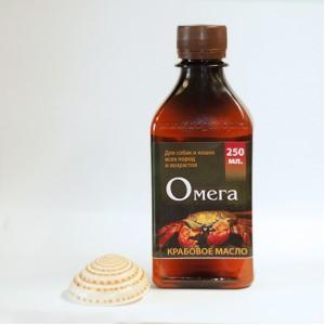 Крабовое масло ОМЕГА высокой очистки (250 мл.)